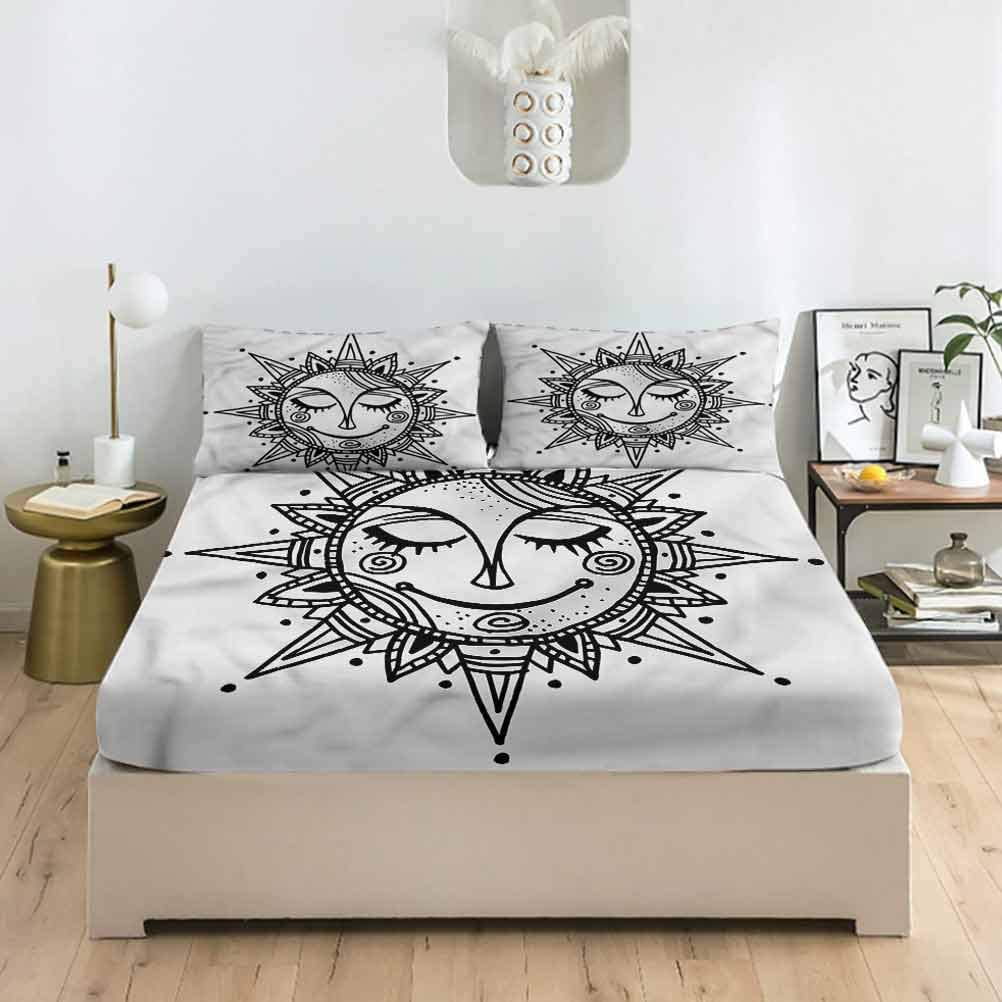 LCGGDB Tribal Cheap SALE Start Minneapolis Mall Full Size Bed Fitted S Sheet Set Floral Ornamental