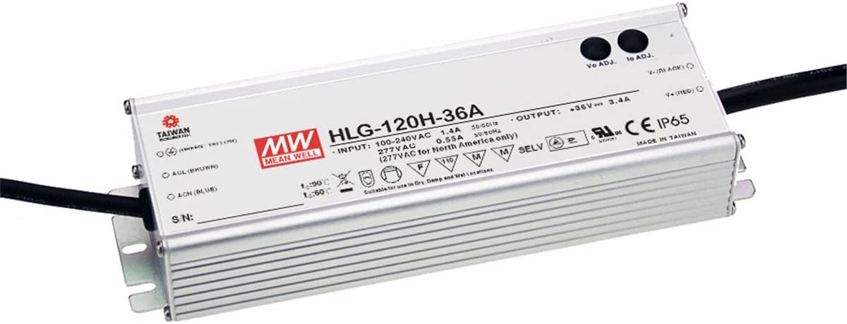 PowerNex Industry No. 1 Mean Well HLG-120H-54 54V 2.3A Single 124.2W Max 63% OFF Output S