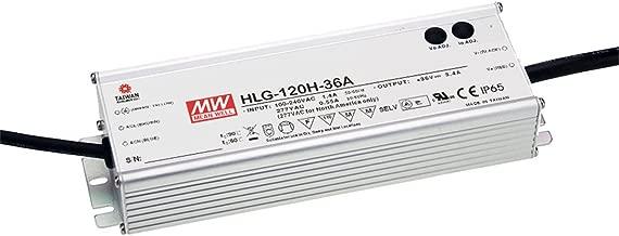 MEAN WELL LED Driver Single Output Switching Power Supply 120 Watt 48V @ 2.5A A Model, 120 Watt - HLG-120H-48A