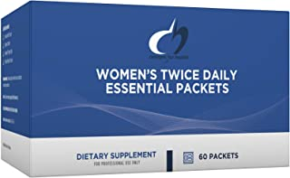 Designs for Health Women's Twice Daily Essential Packets - Vitamin Packs with Iron-Free Multivitamin, OsteoForce Bone Supp...