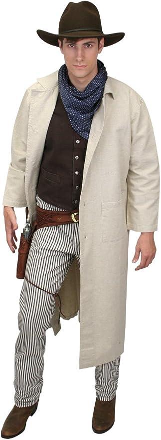 1900s Edwardian Men's Suits and Coats Historical Emporium Mens Classic Cotton Duster  AT vintagedancer.com