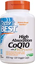 Doctor's Best High Absorption CoQ10 with Bioperine, Heart Health & Energy Production, Non-GMO, Gluten Free, Vegan, Soy Fre...