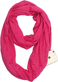 Lightweight Infinity Travel Scarf with Secret Hidden Pocket, Perfect Travel Scarf
