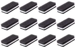 ダスキン スポンジ 抗菌タイプ (台所用) 12個入り 台所 キッチン用 キッチンスポンジ 油汚れ 長持ち (1個×12)(ブラック)