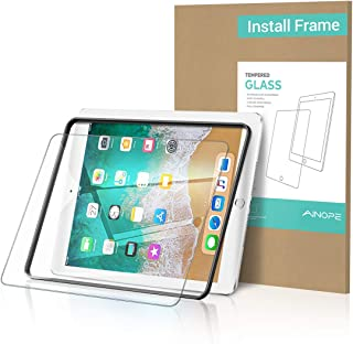 AINOPE iPad 9.7 6th Generation Screen Protector,[Easy Install Frame] Tempered Glass Screen Protector for iPad Pro 9.7/iPad 5/iPad Air 2 -Apple Pencil Compatible with/HD/Anti-Scratch