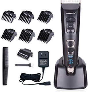 DEERCON Hair Clippers for Men Cordless Professional Hair Trimmer Hair Cutting Kit Beard Trimmer Salon Rechargeable LED Display With Charging Dock