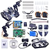 XiaoR Geek WiFi Manipulator Smart Robot car kit for Raspberry Pi 3B+,Tank Chassis FPV Camera Programable Robotics Vehicle Kit with 8Gb TF Card by iOS Android PC Controlled