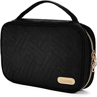 Simboom Travel Jewelry Carrying Bag Jewelry Organizer Handbag for Rings, Earrings, Necklaces, Bracelets, Brooches - Black