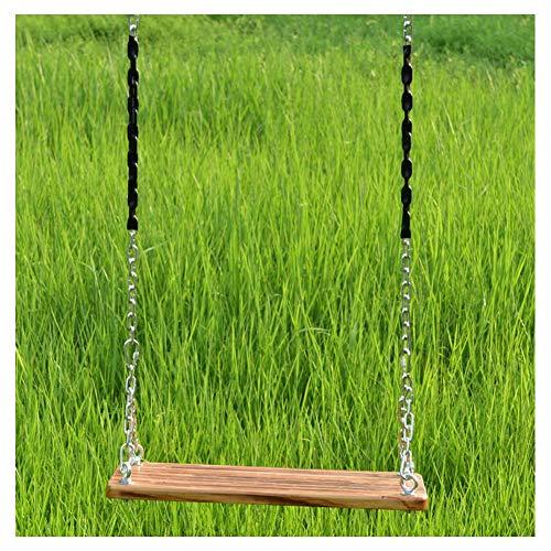 HGDD Columpio Infantil Swing para niños de Madera, Asiento de Swing para niños Adolescentes Adulto, Peso de Cuerda Ajustable hasta 150 kg, Ideal para al Aire Libre Interior (Color : #2)