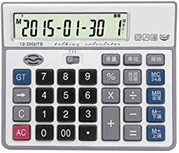 $65 » Basic Calculator Office Desktop Calculator Solar and Battery Dual Power Electronic Calculator Portable 12 Digit Large LCD Display Calculator,Multipurpose Office Calculators for Daily and Basic Office
