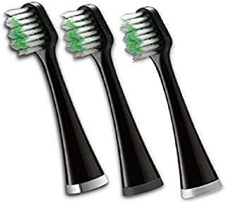Waterpik Triple Sonic Replacement Brush Heads, Complete Care Replacement Tooth Brush Heads, STRB-3WB, 3 Count, Black