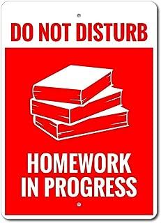 ChristBess Homework Sign, Teacher Gift, Teacher Decor, Homework Progress, Gift for Teacher, Do Not Disturb Sign, Gift Teacher, Quality Metal Homework