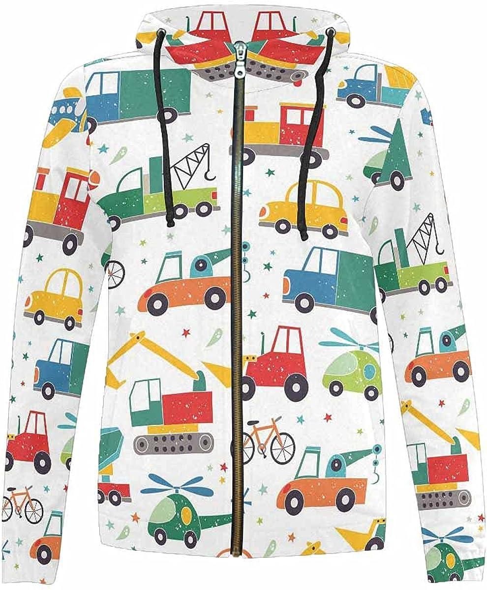 InterestPrint Seasonal Wrap Regular discount Introduction Bright Geometric Pattern Kids Jackets Hoodie Full
