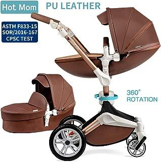 Baby Stroller 360 Rotation Function,Hot Mom Pushchair Pram,2020 New Style Coffee