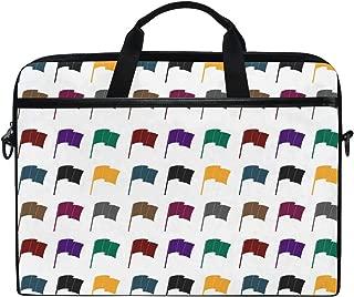 Slim Laptop Shoulder Bag Compatible Fits for 15-15.4 Inch Tablet Various Colored Belgian Flags Durable Laptop Briefcase Business Office Bag Notebook Messenger Bag for Travel