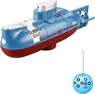 Mini RC Submarine Remote Control Boat Waterproof Diving Toy Gift for Kids Boys and Girls New Year Gift