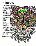 búhos Libro de colorear Misterioso Fantástico para Niños adultos...