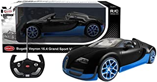 سيارة بوجاتي فيرون 16.4 جراند سبورت قياس 1:14 من راستار لون أسود في أزرق