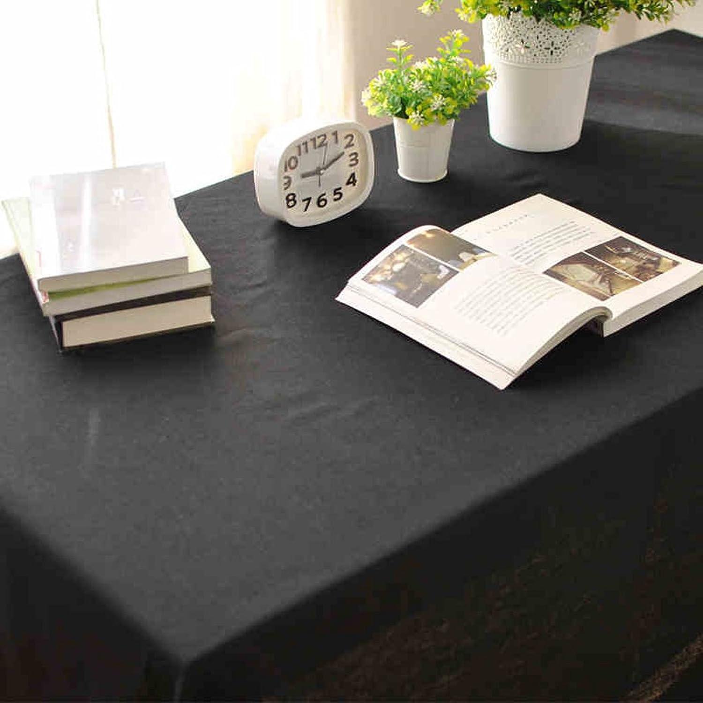 aquí tiene la última HAOLIA Mantel de lino negro puro tovaglie ( Tamaño Tamaño Tamaño   100135cm )  100% precio garantizado