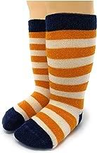 Warrior Alpaca Socks - Children's Baby Alpaca Wool Toddler Socks, Fun Stripes with Non-Skid Alpaca Appliqués