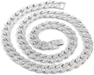 JRjewelry Men's Hip Hop 18K Gold Plated Cuban Link 15mm Fully Iced-Out Tennis Chain Necklace