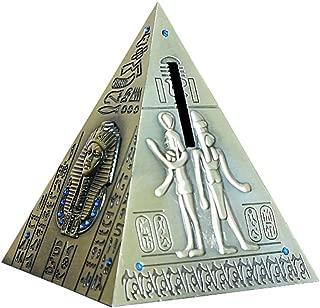 Egyptian Pyramid Statue Model Money Box Home Decor 5.1inch -Antique Brass (Egyptian Pyramid)