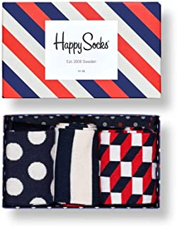Happy Socks Classic Stripe Gift Box, Calcetines para Hombre