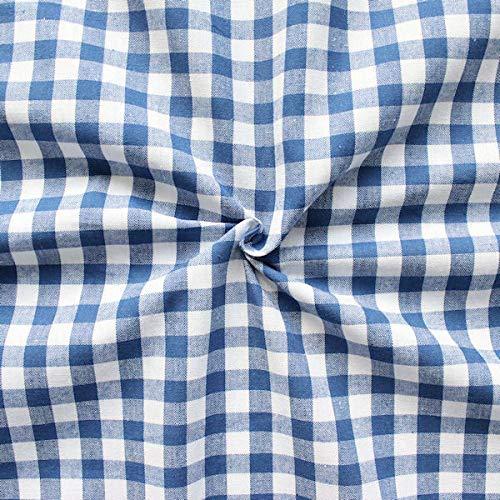 STOFFKONTOR 100% Baumwollstoff Stoff Züchen Vichy Karo groß - Öko-Tex Standard 100 - Meterware, blau-Weiss - zum...