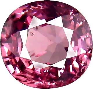 0.86 ct AAA+ Grade Cushion Shape (6 x 6 mm) Unheated Pink Malaya Garnet Natural Loose Gemstone