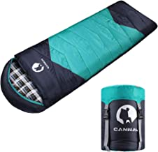 CANWAY Sleeping Bag with Compression Sack, Lightweight and Waterproof for Warm & Cold..