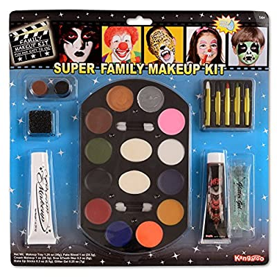 Kangaroo Super Jumbo Value Deluxe Family Makeup Kit; Halloween Makeup from Kangaroo Manufacturing