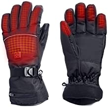 M.Jone Heated Gloves, Electric Rechargeable Battery Powered Thermal Heating Gloves, Windproof Winter Women Men Gloves for Cold Weather Activities Snowboarding, Snow Plowing, Biking or Walking
