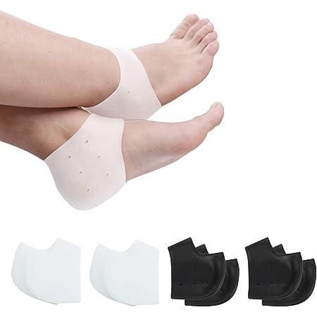Paar Silikon-Fersenschale Heel Cups Support-Schuhe Pads Gel Orthetische Plantar,
