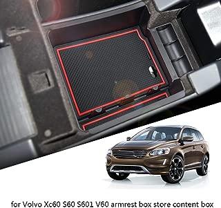 Gnnlor Console Armrest Box Dekorative Abdeckung Aschenbecher Verkleidung Edelstahl Aufkleber f/ür Volvo XC60 S60 V60