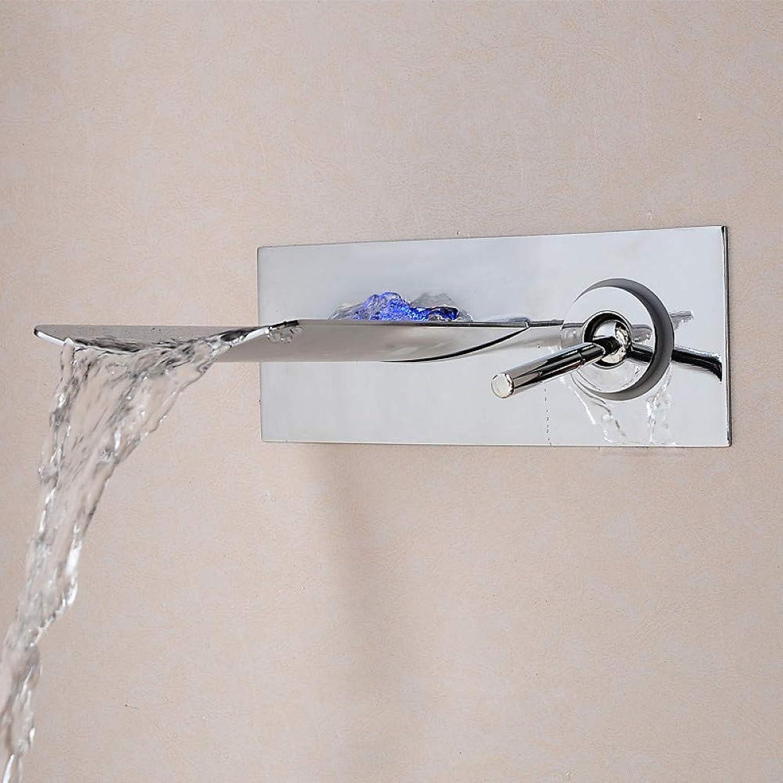 XHCP Waschtischarmatur Waschbecken Wasserhahn - Vorspülen Wasserfall Verbreitet Chrom Centerset Einhand EIN Loch Badarmaturen