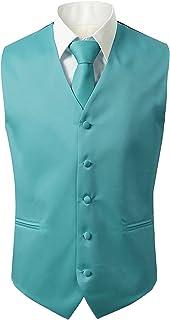 Suit Me Men's Waistcoats Wedding Suits Vest 3 Pieces with Tie Handkerchief