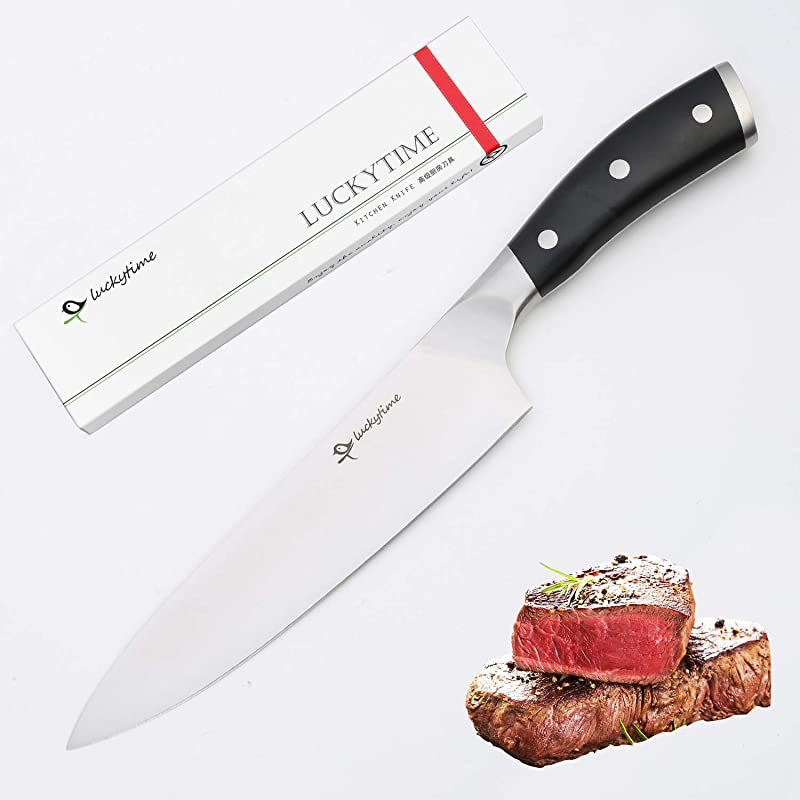 Luckytime High Carbon Chef S Knife Pro Kitchen Knife 8 In German Steel Chef S Knife