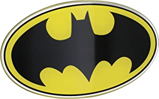 Fan Emblems Batman Logo Car Decal Domed/Black/Yellow/Chrome Finish, DC Comics Automotive Emblem Sticker Applies Easily to Cars, Trucks, Motorcycles, Laptops, Windows, Almost Anything