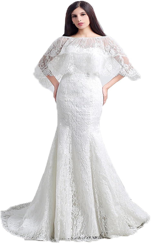 Onlybridal Women's Wedding Dress Lace Mermaid OffShoulder Lace up Corset Long Bridal Dress