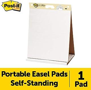3M Post-it 563R - Bloc de papel reciclado para reuniones – Papel para pizarra rotafolios – 20 hojas Super Sticky (50.4 x 58.4 cm) – color blanco – textura lisa