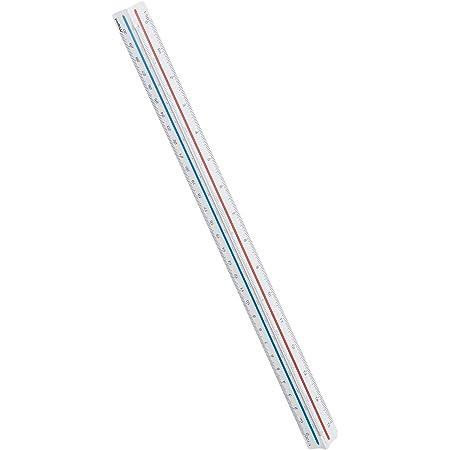 Maped - Kutch - Règle Triangulaire à Échelles de Réduction - Réductions 1:20-1:25-1:50-1:75-1:100-1:125 - Avec Étui de Protection et Code Couleur - En ABS