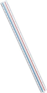 Maped - Kutch - Règle Triangulaire à Échelles de Réduction - Réductions 1:20-1:25-1:50-1:75-1:100-1:125 - Avec Étui de Pro...