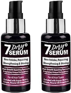 7 Day Serum - Rapid Hair Growth Boosting Serum Formula (Combo Pack of 2)
