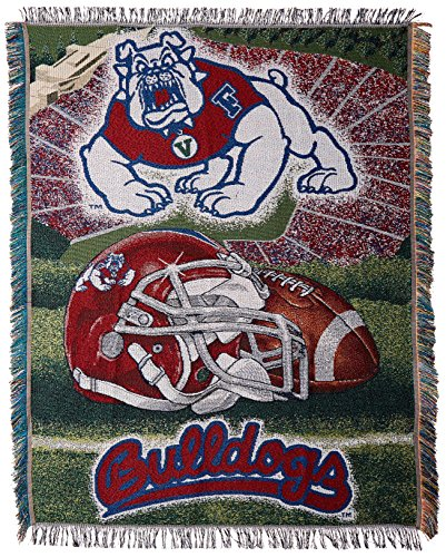 Fresno State Bulldogs NCAA Woven Tapestry Throw (Home Field Advantage) (48x60 )