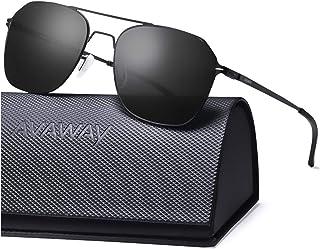 AVAWAY Hexagon Sunglasses For Women Men UV Protection Mirrored Lens Ultra Lightweight Metal Frames