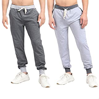 Off Cliff Side Pocket Contrast Elastic Cuff Cotton Sweatpants Set for Men 2 Pieces