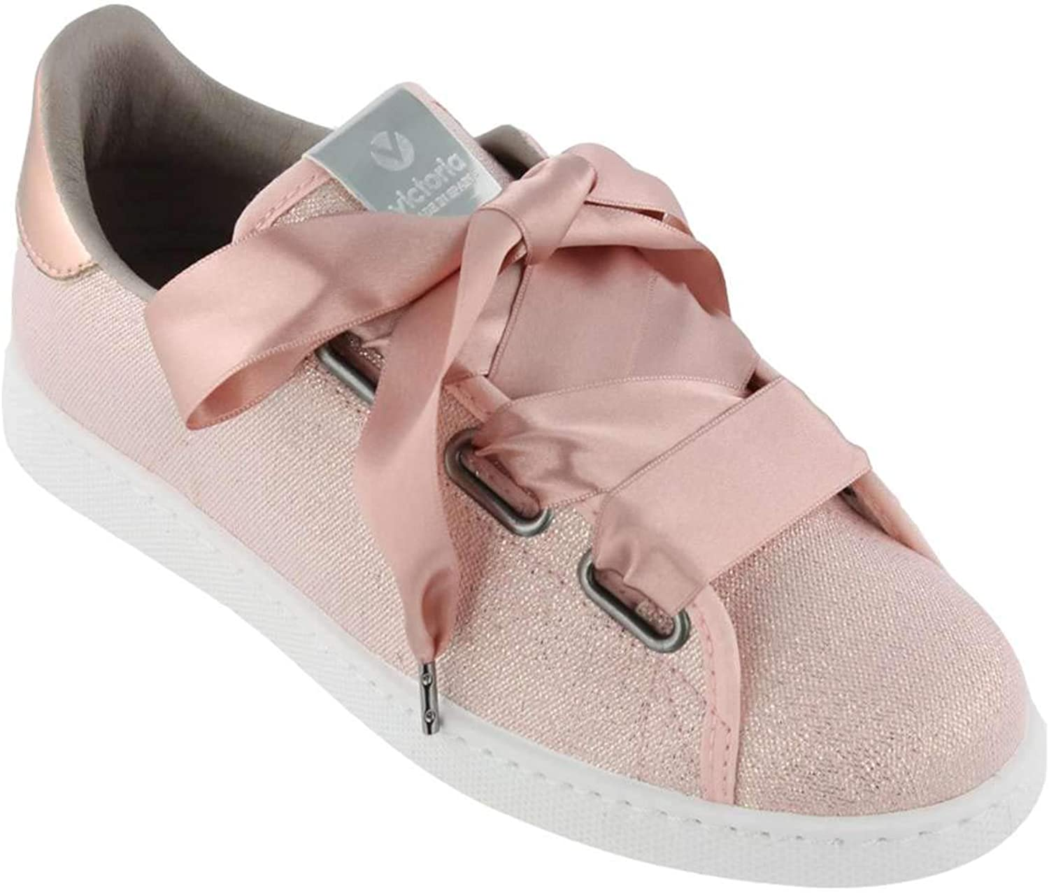 Victoria Women's Ribbon Bow Casual Sneakers, pink,12 M US