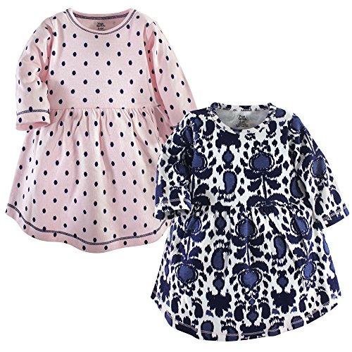 Yoga Sprout - Vestido de algodón para bebé, 2 Unidades, Jarra de Vidrio, 3-6 Meses