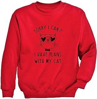Tstars - キュートキャット 猫ギフト かわいい猫ちゃんプレゼント ユニークキャットのプレゼント スイート猫ちゃん贈り物 キッズスウェットシャツ