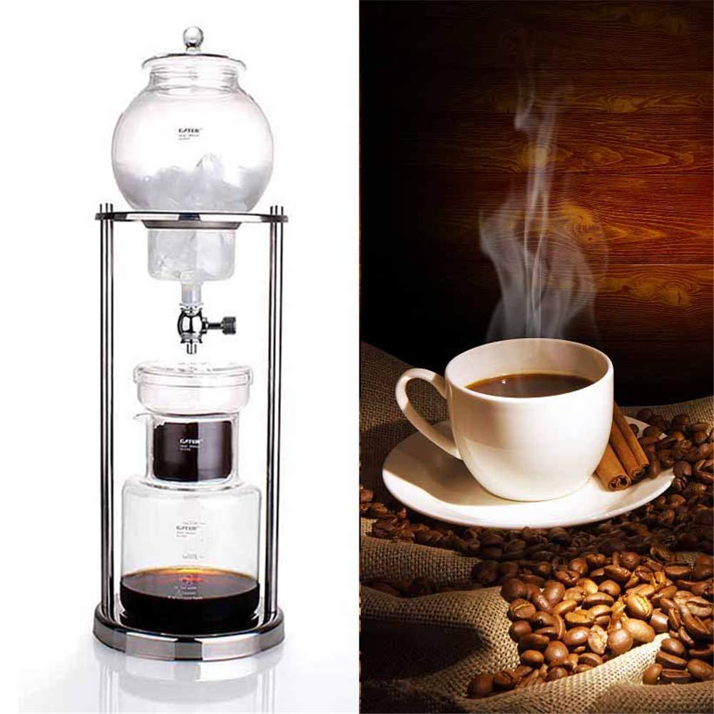 600 ml de infusión de agua, café, expreso, olla reutilizable, herramienta de filtro de vidrio, máquina cuentagotas, cafetera para el café frío para el amante del café.: Amazon.es: Hogar